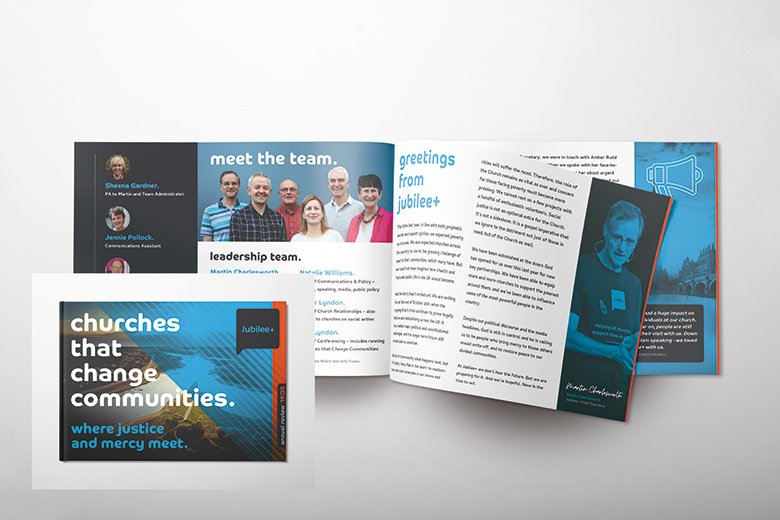 Church Brochure Design and Print: Jubilee+ – Annual Review