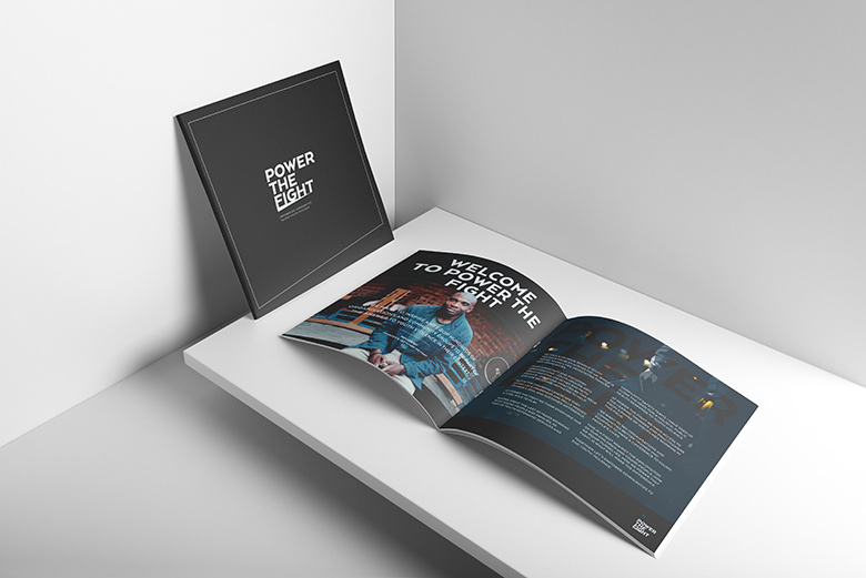 Church Brochure Design and Print: Power The Fight