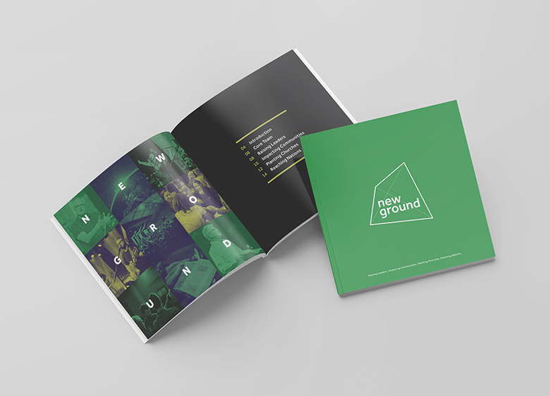 Church Brochure Design and Print: New Ground